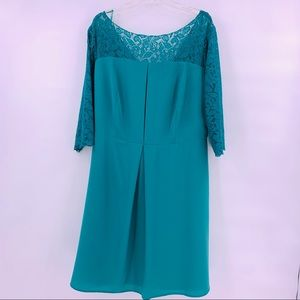 Jessica Simpson Green Lace Fit & Flare Dress 18W